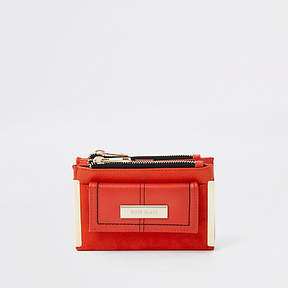 River Island Bright orange mini foldout purse