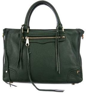 Rebecca Minkoff Leather Regan Satchel - GREEN - STYLE