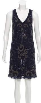 Calypso Sleeveless Embellished Mini Dress