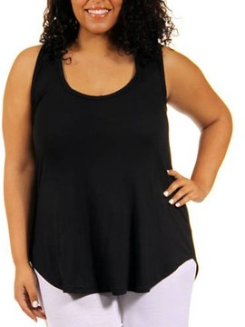 24/7 Comfort Apparel Women's Plus-Size Racer back Tunic