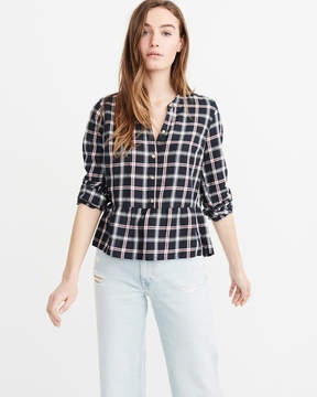 Abercrombie & Fitch Peplum Popover Shirt