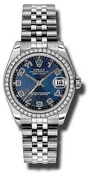 Rolex Datejust Lady 31 Blue Concentric Dial Stainless Steel Jubilee Bracelet Automatic Watch