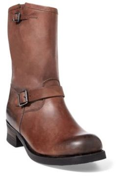 Ralph Lauren Eldin Leather Engineer Boot Brown 10