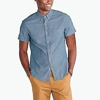 J.Crew Factory Slim short-sleeve flex chambray shirt