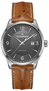 Hamilton Men's Jazzmaster Viewmatic Auto Ostrich Leather Strap Watch, 44Mm