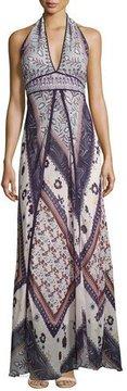 BA&SH Romane Halter Maxi Dress, Multi Pattern