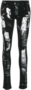 Barbara I Gongini splatter skinny jeans