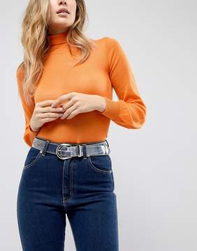 Asos Clear Western Belt with Stud Detail