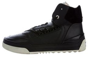 Fendi Leather High-Top Sneakers