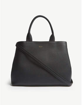 Max Mara Black Gin 14 Grained Leather Tote Bag