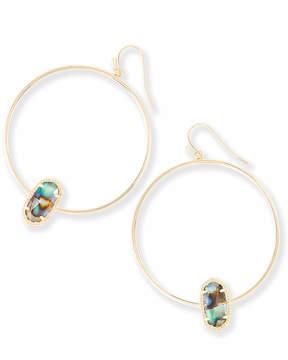 Kendra Scott Elora Gold Hoop Earrings in Abalone Shell