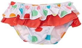 Chicco Girls' White Dotted Swimsuit Bottom.