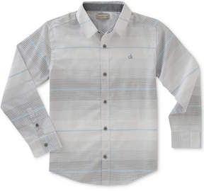 Calvin Klein Horizontal Stripe Shirt, Big Boys (8-20)