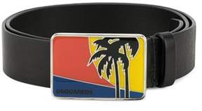 DSQUARED2 Men's Black Leather Belt.