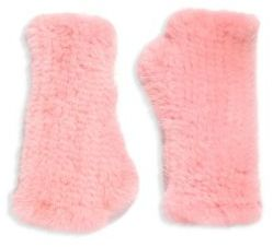Surell Mink Fur Fingerless Gloves