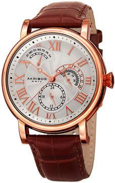 Akribos XXIV Mens Brown Bracelet Watch-A-1003rg