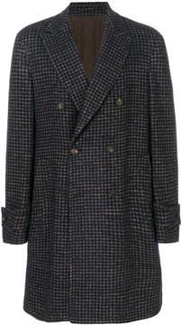 Lardini houndstooth pattern coat
