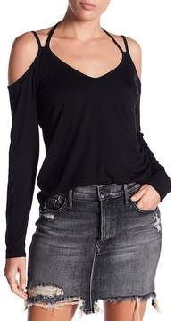 Fifteen-Twenty Fifteen Twenty Strap Detail Cold Shoulder Tee