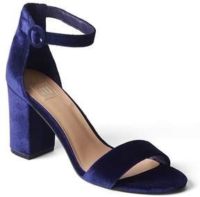 Gap Velvet block heel sandal