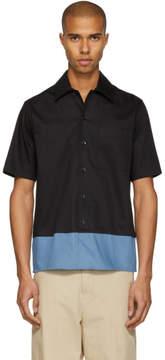 Ami Alexandre Mattiussi Black and Blue Colorblock Shirt