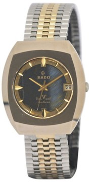 Rado Balboa 5 Delux Date Gold Plated / Stainless Steel Automatic 34mm Mens Watch