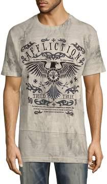 Affliction Men's Tried Eagle Short-Sleeve Tee - Beige-black, Size xxl