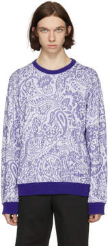 Kenzo Blue Paisley Print Sweatshirt