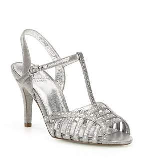 Adrianna Papell Faith Crystal Stud Peep-Toe Dress Sandals