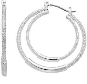 Dana Buchman Textured Double Hoop Earrings