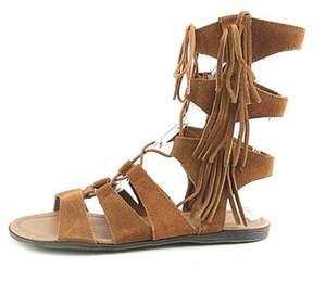 Minnetonka Womens Milos Suede Open Toe Casual Strappy Sandals.
