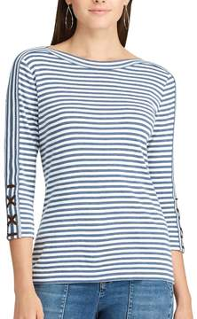 Chaps Women's Cotton-Blend Boatneck Top