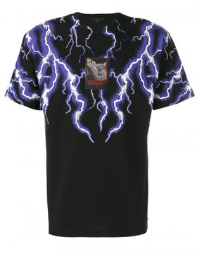 Alexander Wang LIGHTNING COLLAGE SHORT SLEEVE TEE