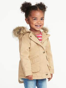 Old Navy Hooded Field Jacket for Toddler Girls
