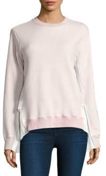 Clu Pleated Panel Back Terry Sweat Cotton Top