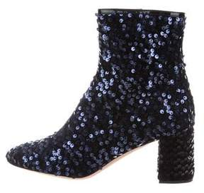 Rochas Sequin Ankle Boots