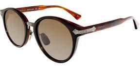 Gucci Anti-reflective GG0066S-001-50 Brown Round Sunglasses