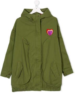 Little Marc Jacobs rainbow logo hooded coat