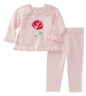 Kate Spade Rose Knit Sweater W/ Leggings, Size 3-9 Months