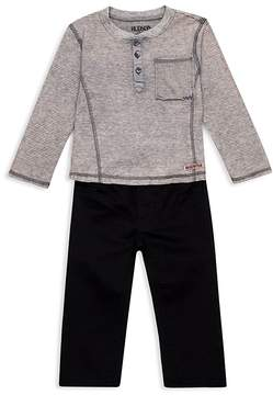 Hudson Boys' Henley Shirt & Jeans Set - Baby