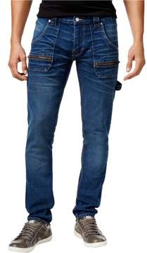 GUESS Mens Tapered Slim Fit Jeans Blue 40x33