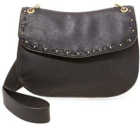 Steve Madden Womens Sanders Faux Leather Studded Saddle Handbag