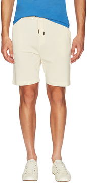 Commune De Paris Men's Linen Knit Shorts with Side Slip Pockets