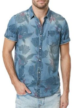 Buffalo David Bitton Tropical Chambray Sportshirt