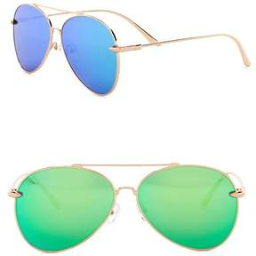 Cat Eye AQS Tommie 60mm Aviator Sunglasses