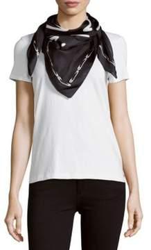 Karl Lagerfeld Printed Silk Scarf