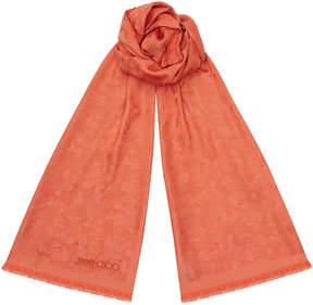 Jimmy Choo ZOEY Calypso Silk and Modal Blend Woven Jacquard Stole