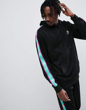 Converse Pullover Hoodie With Taped Side Stripes In Black 10007588-A05