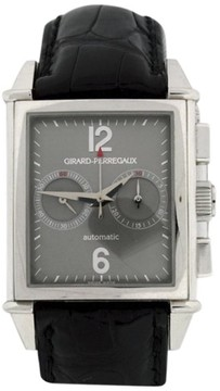 Girard Perregaux 2599 18K White Gold & Leather 32mm Watch