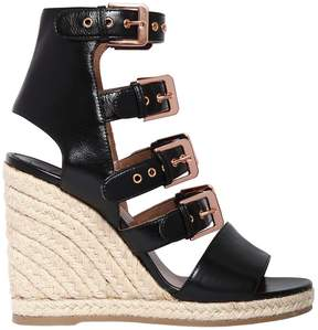 Laurence Dacade 90mm Rosario Multi Buckle Leather Wedges