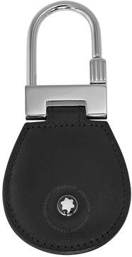 Montblanc Meisterstuck Black Leather and Steel Key Fob